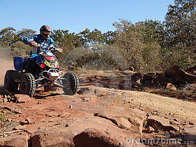 Quad motorcycle racing