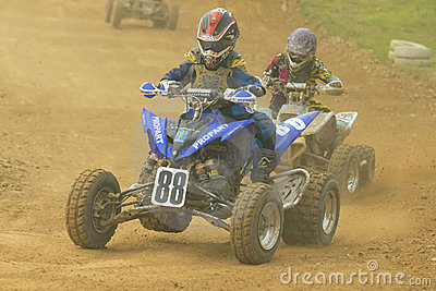 Quad race Editorial Stock Image