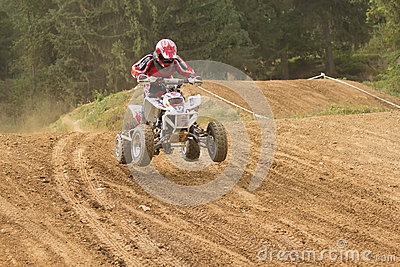 Quad rider on the track Editorial Stock Image