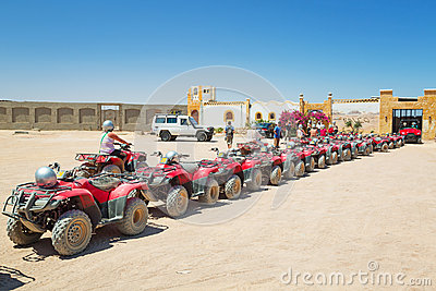 Quad trip on the desert near Hurghada Editorial Photography