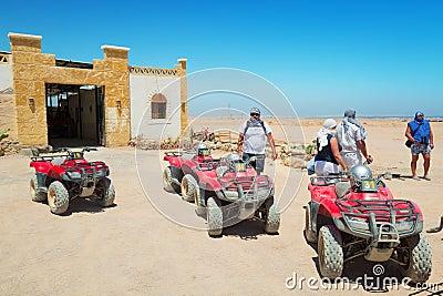Quad trip on the desert near Hurghada Editorial Photo