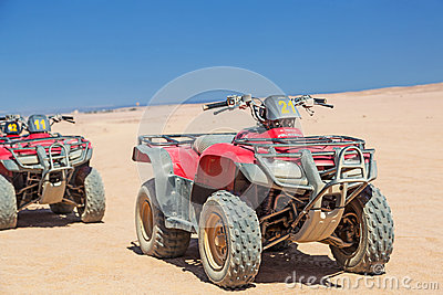 Quad trip on the desert near Hurghada Editorial Image