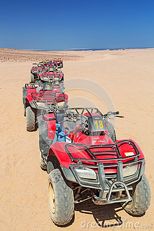 Quad trip on the desert near Hurghada Editorial Stock Image