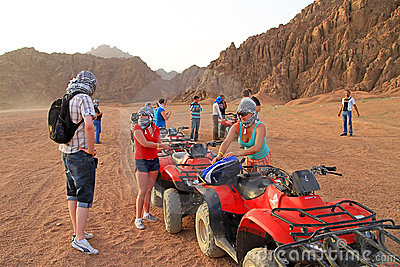 Quad trip in Sinai mountains of Egypt Editorial Stock Image