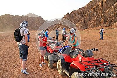 Quad trip in Sinai mountains of Egypt Editorial Stock Image