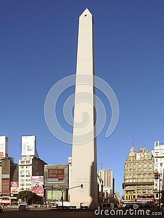 Quadrado do obelisco de Buenos Aires Foto de Stock Editorial