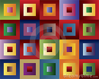 Quadrados coloridos