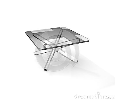 Quadratic glass table