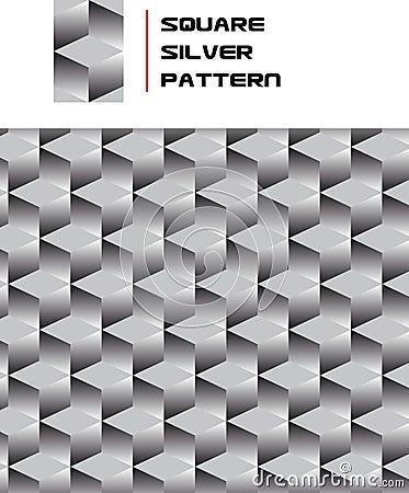 Quadratisches silbernes Muster