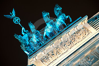 Quadrifa on Brandenburg Gate in Berlin, Germany