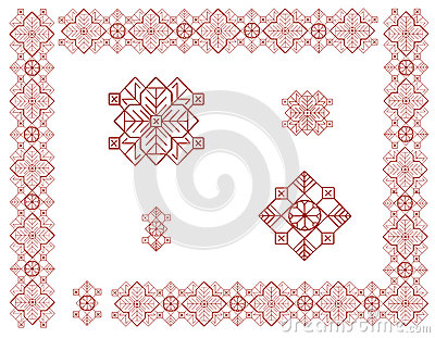 Quadro com elementos do ornamento letão