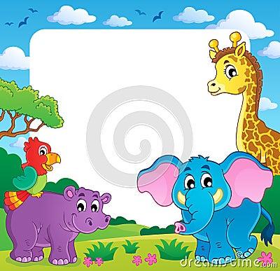 Quadro com fauna africana 1
