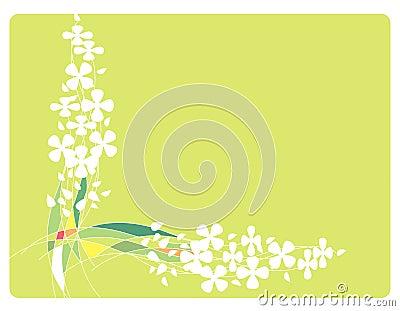 Quadro com flores e linhas