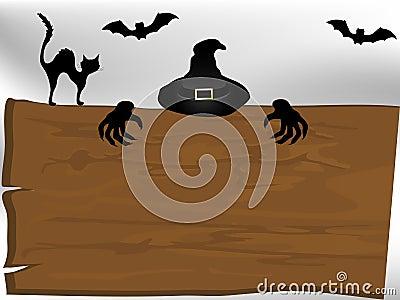 Quadro indicador de Dia das Bruxas