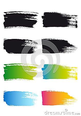 Quadros do curso da escova de pintura, vetor