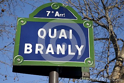 Quai Branly Street Sign