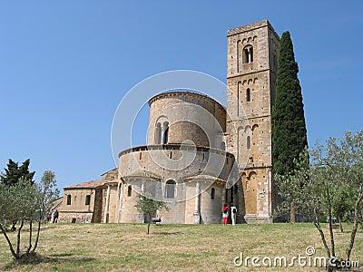 Quaint church in countryside