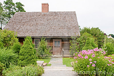 Quaint house landscaping