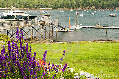 Quaint New England harbor