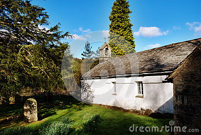 Quaint rural stone church Wythburn, Cumbria