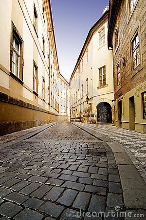 Free Quaint Street Prague Stock Image - 622871