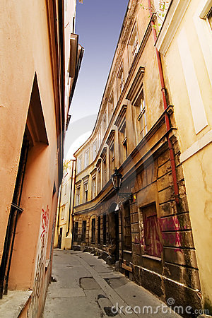 Free Quaint Street Prague Stock Photo - 622890