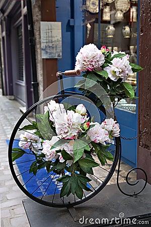 Quaint Street Scene,Shops,Antique Bike,France
