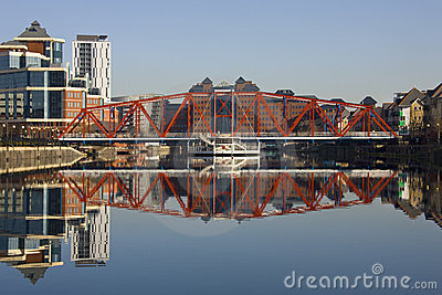 Quais de Salford - Manchester - Royaume-Uni Photo éditorial