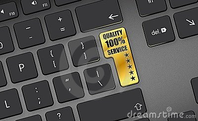 Quality 100  service 5 Stars gold button