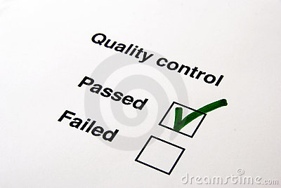 Quality control - yes