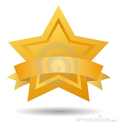 Quality mark gold star