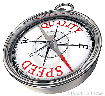 Quality versus quantity compass