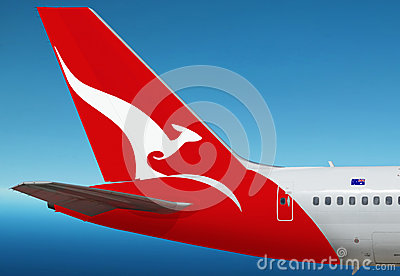 Quantas, Australian airlines plane Editorial Stock Photo