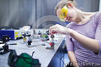 In a quantum optics lab