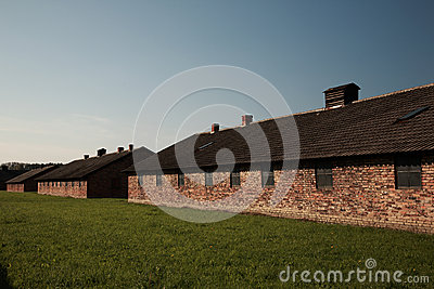Quarantine block, Auschwitz concentration camp Editorial Image