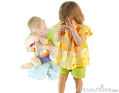 Quarrel between children