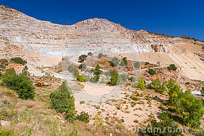 Quarry on the coast of Crete