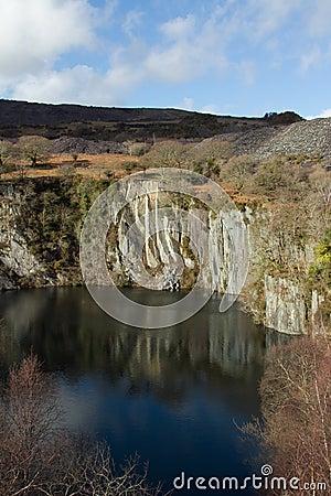 Quarry pit.