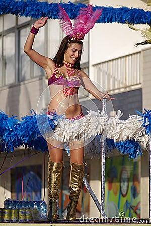 Quarteiras carnival parade Editorial Image