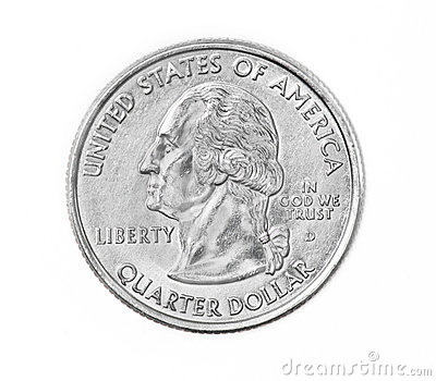 Quarter coin