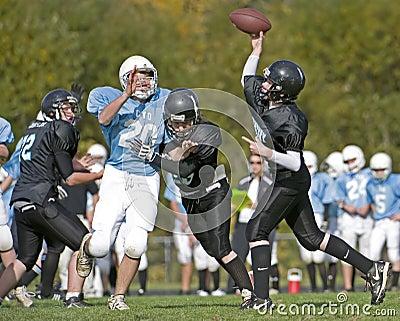 Quarterback pass football Editorial Stock Photo