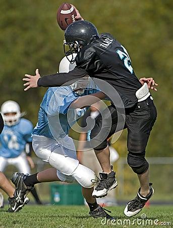 Quarterback sack. Editorial Stock Photo
