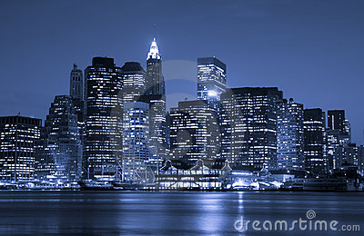Quartier De La Ville New York Financier Images stock - Image: 8358314