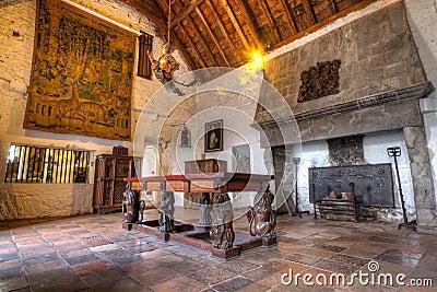 Quarto de Dinning do castelo de Bunratty do século XV Imagem Editorial