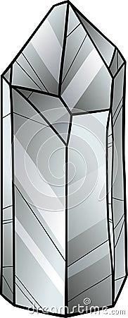 Quartz Or Crystal Cartoon Illustration Stock Vector ...