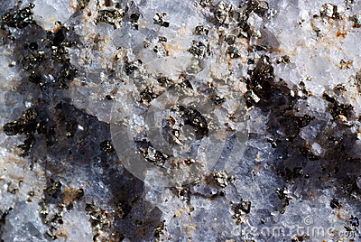 Quartz with pyrite inclusion texture