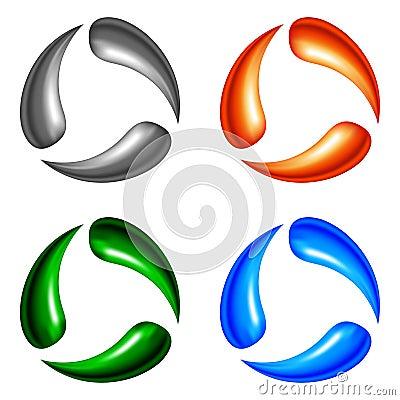 Quatro elementos do logotipo