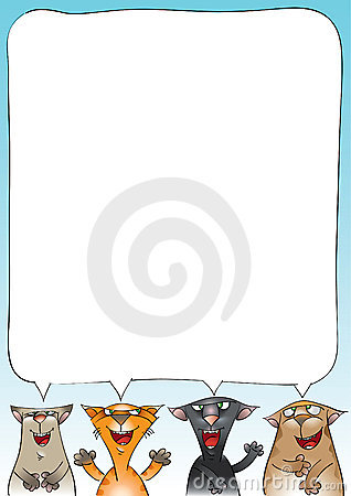 Quatro gatos do canto