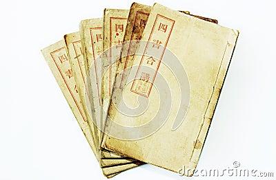 Quatro livros chineses velhos