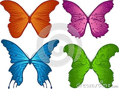 Quattro farfalle colorate fotografia stock libera da for Foto farfalle colorate